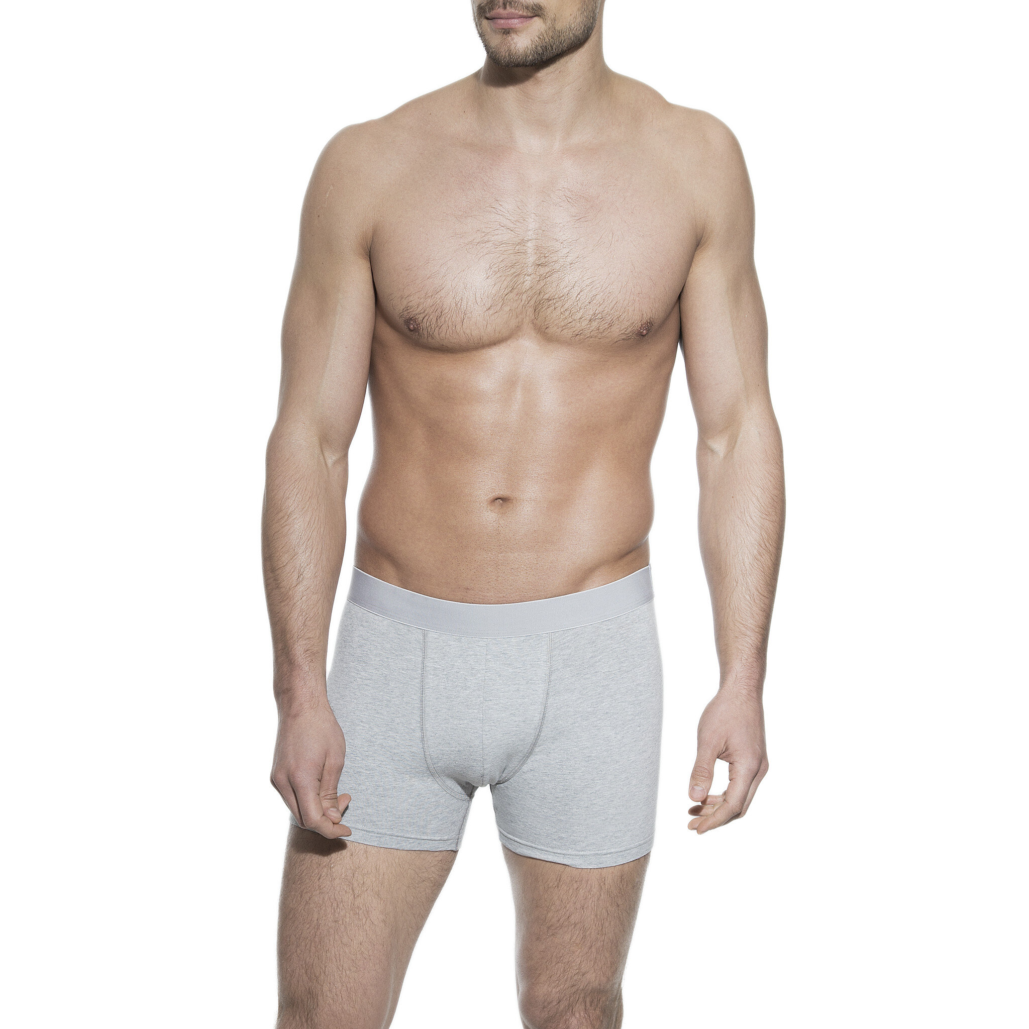 Boxer brief grey for men in organic cotton